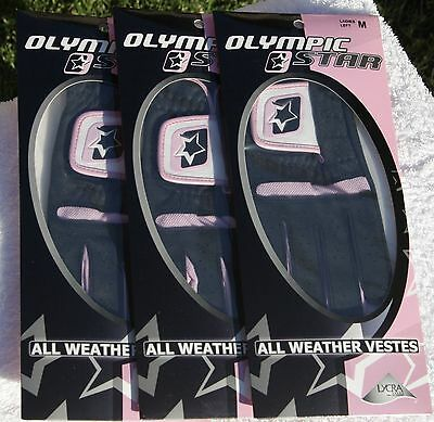Ladies All Weather Glove Left Hand Medium From Proline Olympic Star 3 Pack