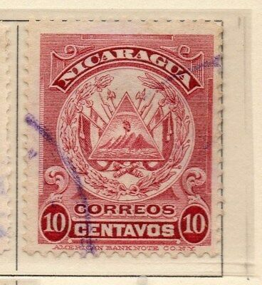 Nicaragua 1909 Early Issue Fine Used 10c. 110922