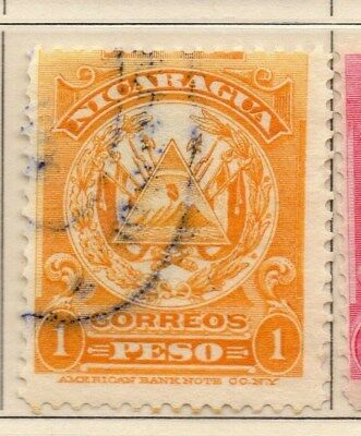 Nicaragua 1909 Early Issue Fine Used 1P. 110926