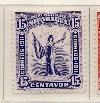 Nicaragua 1912 Early Issue Fine Mint Hinged 15c. 110965