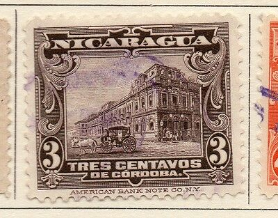 Nicaragua 1914 Early Issue Fine Used 3c. 110996