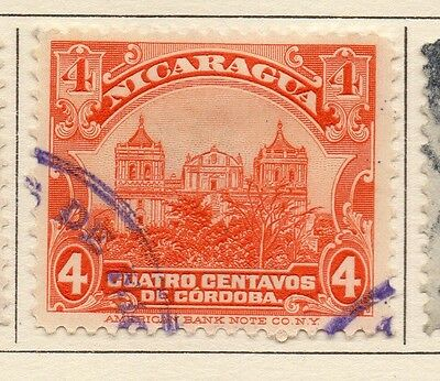 Nicaragua 1914 Early Issue Fine Used 4c. 110997