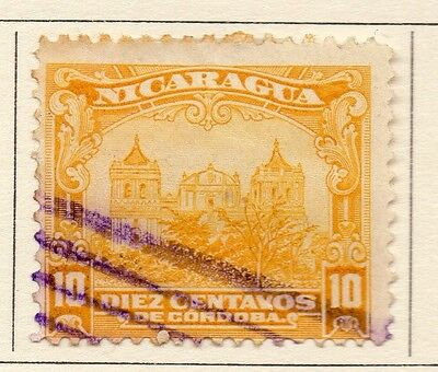 Nicaragua 1914 Early Issue Fine Used 10c. 110999