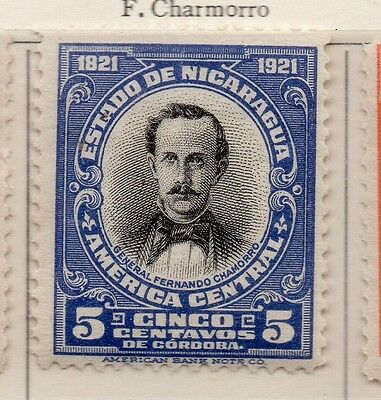 Nicaragua 1921 Early Issue Fine Mint Hinged 5c. 111018