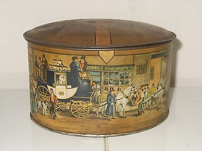 Vintage Dobbs Fifth Avenue Hats Collectible Advertising Tin Illustrated!