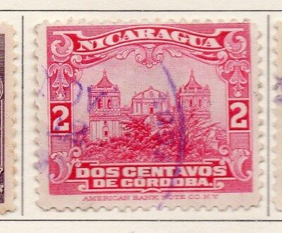Nicaragua 1922-23 Early Issue Fine Used 2c. 111029