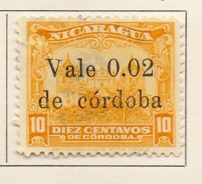 Nicaragua 1922 Early Issue Fine Mint Hinged 2c. Surcharged 111033