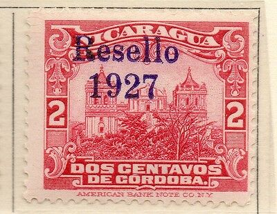 Nicaragua 1927 Early Issue Fine Mint Hinged 2c. Optd 111048