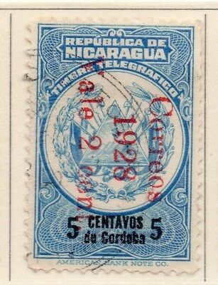 Nicaragua 1928-29 Early Issue Fine Used 5c. Surcharged 111067
