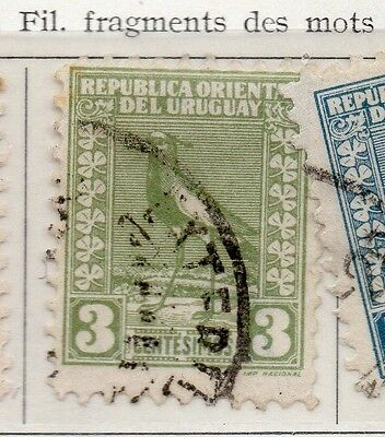 Uruguay 1927 Early Issue Fine Used 3c. 111120