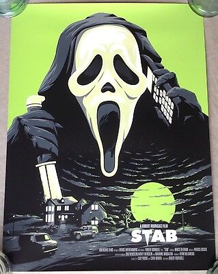 Stab Scream Florey Limited Edition Art Print Alternative Horror Movie Poster