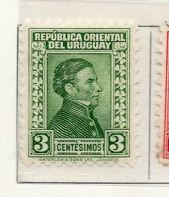 Uruguay 1932 Early Issue Fine Mint Hinged 3c. 111149