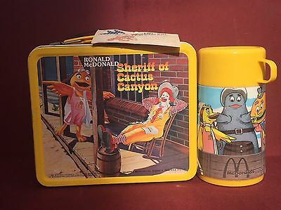 Vintage 1982 Ronald McDonald Lunch Box / Aladdin Industries Inc / With Tag