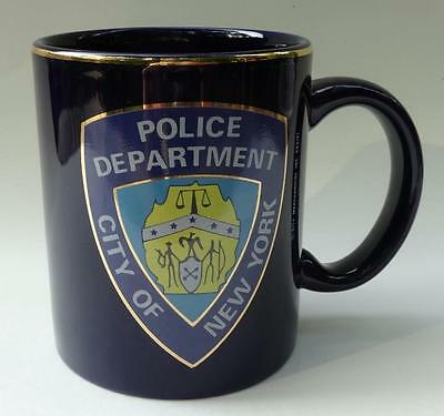 Gold Trimmed New York Police Department 10 ounce City Merchandise Mug