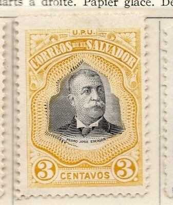 El Salvador 1906 Early Issue Fine Mint Hinged 3c. 111255