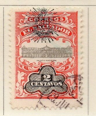 El Salvador 1907 Early Issue Fine Used 2c. Optd 111271
