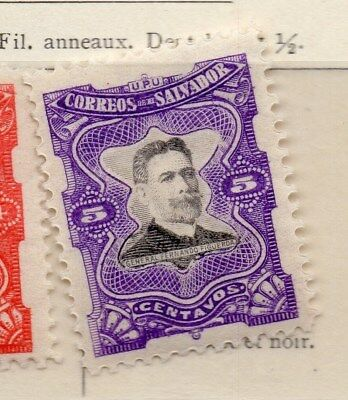 El Salvador 1910 Early Issue Fine Mint Hinged 5c. 111289