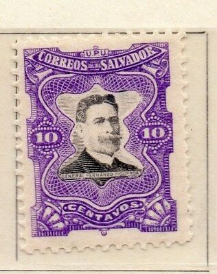 El Salvador 1910 Early Issue Fine Mint Hinged 10c. 111291