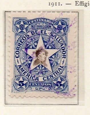 El Salvador 1911 Early Issue Fine Mint Hinged 5c. 111298