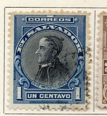 El Salvador 1912 Early Issue Fine Used 1c. 111306