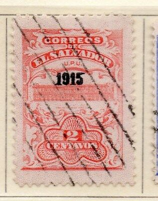 El Salvador 1915 Early Issue Fine Used 2c. Optd 111326