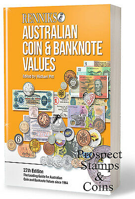 NEW -2016 RENNIKS Australian Coin and Banknote Values 27th Ed. Softcover