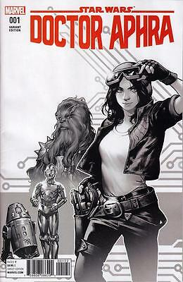 Star Wars Doctor Aphra #1 Shirahama Retailer Exclusive B/w Variant 1 Per Store
