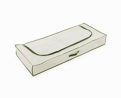H & L Russel Ltd Underbed Chest, Taupe with Harvest Green Trim