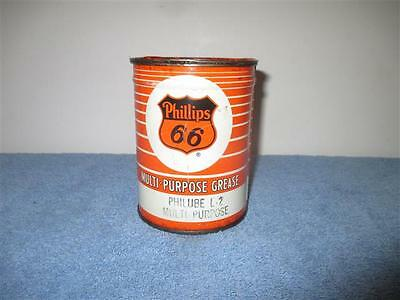 Vintage Phillips 66 Grease Can PHILUBE L-2 MULTI PURPOSE One Pound (Great color)