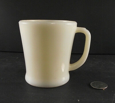 Vintage Oven Ware Fire King Custard  Flat Bottom Shaving  Mug Coffee D Handle