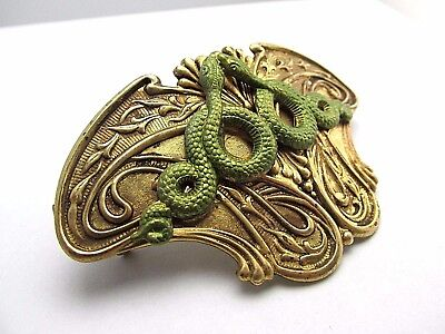 Serpent Barrette Snake Hair Clips  Art Deco  Hair Accessories Egyptian Revival