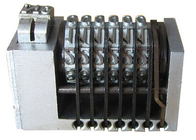 6 Digits Backward Letterpress NO. Steel Numbering Machine for Printing Stamping
