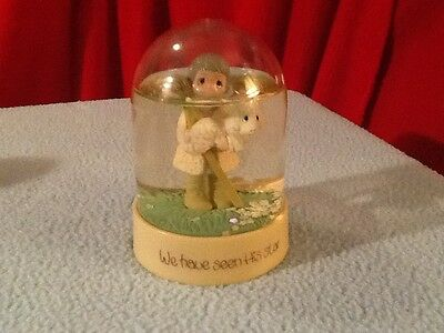 Vintage precious moments WE HAVE SEEN HIS STAR water snowglobe 1980' s