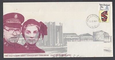 New Zealand 1983 Salvation Army Centennial Congress Illustrated Cover
