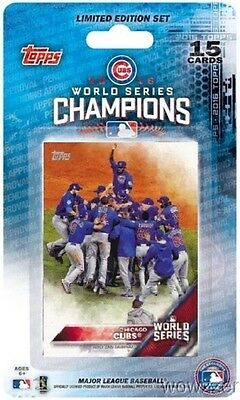 2016 Topps Chicago Cubs World Series CHAMPIONS Team Set-Bryant,Rizzo,Schwarber++