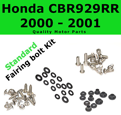 Fairing Bolt Kit body screws fasteners for Honda CBR 929 RR 2000 2001 Stainless