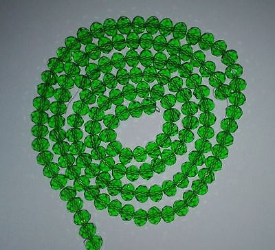 100PCS Sell like hot cakes! Wholesale Green AB crystal loose beads 4*6mm
