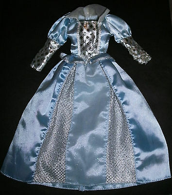 Barbie, Sindy, My Scene doll clothes: Pale blue Princess dress, ball gown
