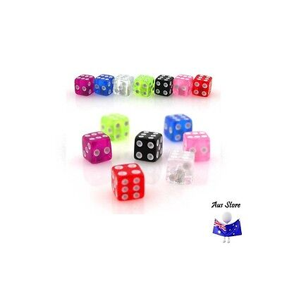 New Acrylic Dice Threaded End. AUS STORE.