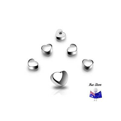 New Heart Threaded End. AUS STORE.