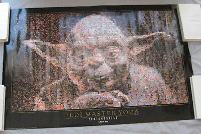 Poster YODA 1997 vintage Photomosaic 36x24 inch Star Wars collectible UNUSED