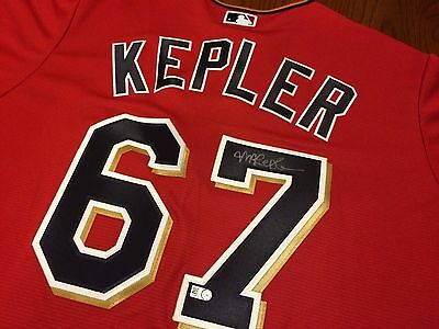 Max Kepler AUTO #67 Rookie Year Jersey Signed MLB Authenticated Minnesota Twins