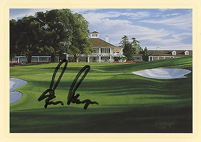 Gary Player Autographed Masters 18th Hole Postcard