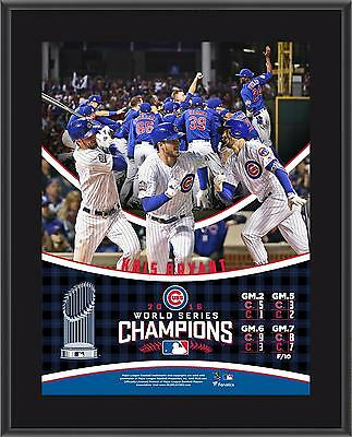 Kris Bryant Chicago Cubs 2016 MLB World Series Champs 10.5x13 Sublimated Plaque