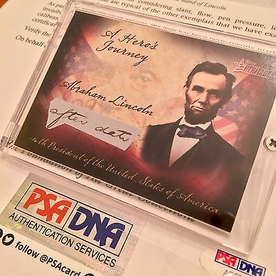 ABRAHAM LINCOLN PSA/DNA Handwritten Cut Word AFTER DATE not Autograph or Signed