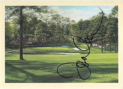 Tommy Aaron Autographed Masters 15th Hole Postcard