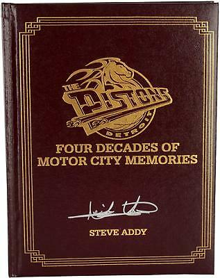 Detroit Pistons Autographed Book with 5 Signatures