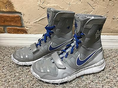 fdd95ef329b39 Nike Manny Pacquiao Free Hyperko Shield Trainer Boxing Shoes Boots Sz 9 Le  Rare!