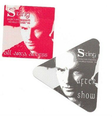 2 Sting Backstage Passes 1996 Mercury Falling Tourney Unused By Otto