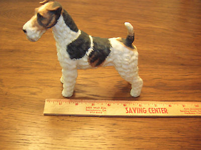 1950's HAND PAINTED WIRE FOX TERRIER PORCELAIN FIGURINE ..... NEW CONDITION....